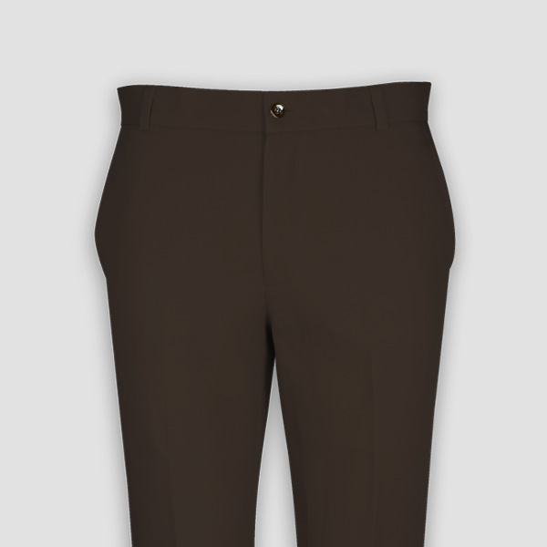 Forest Brown Cotton Pants-mbview-3