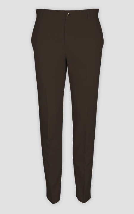 Forest Brown Cotton Pants