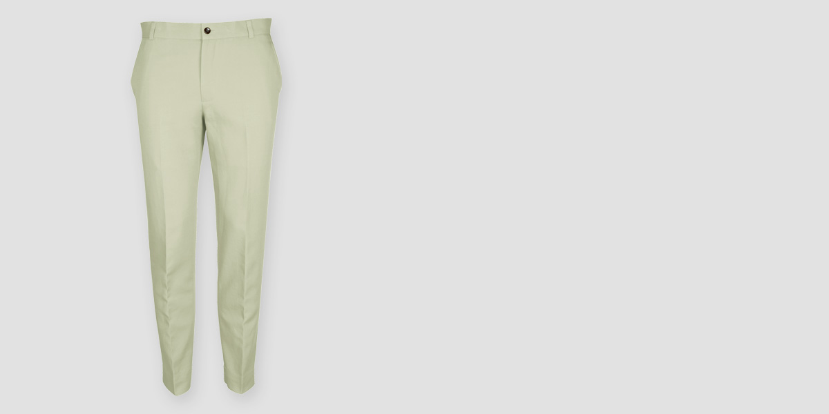 Sage Green Cotton Pants- view-1