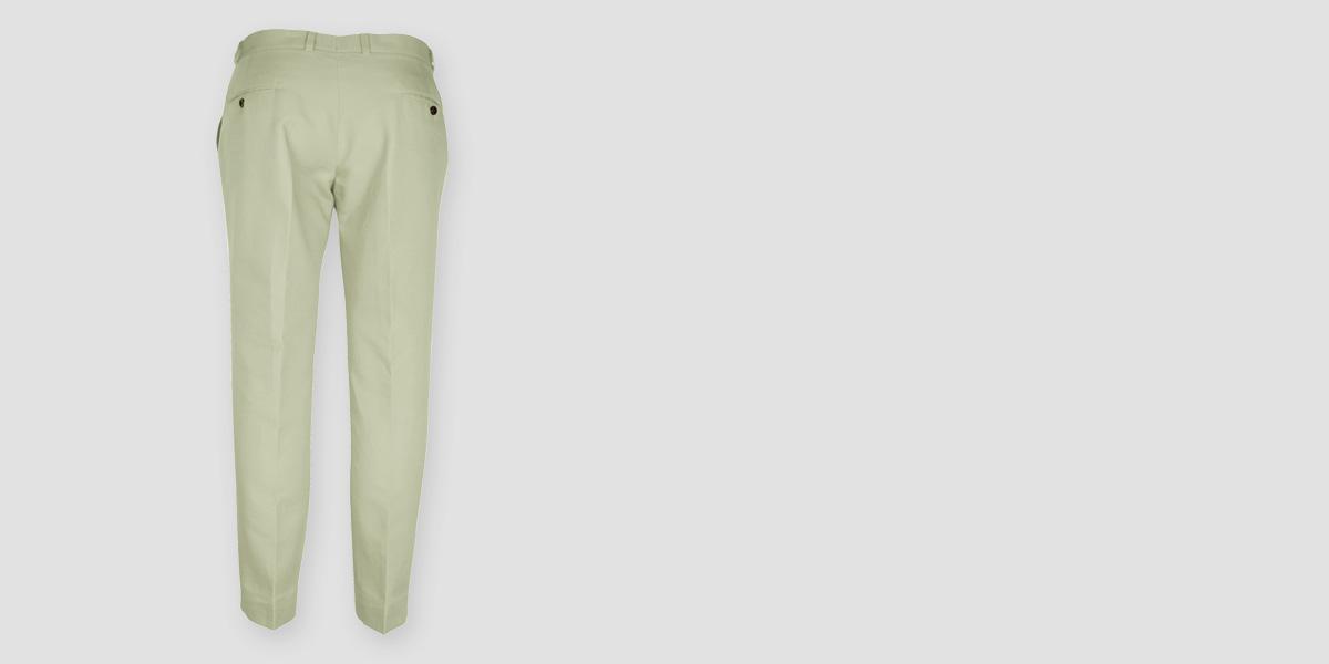 Sage Green Cotton Pants- view-2