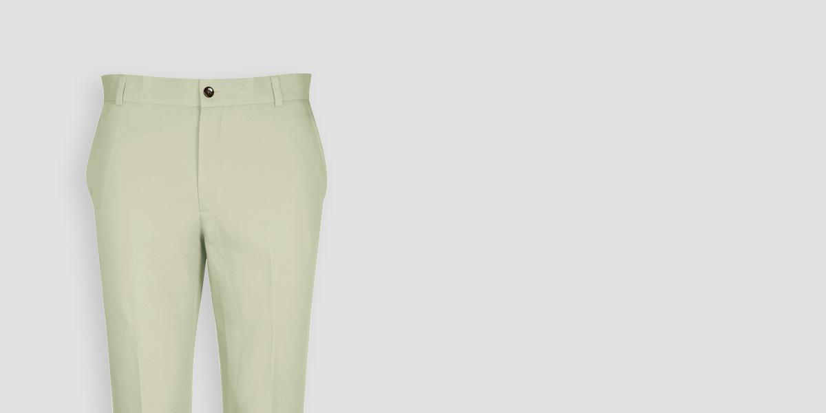 Sage Green Cotton Pants- view-3