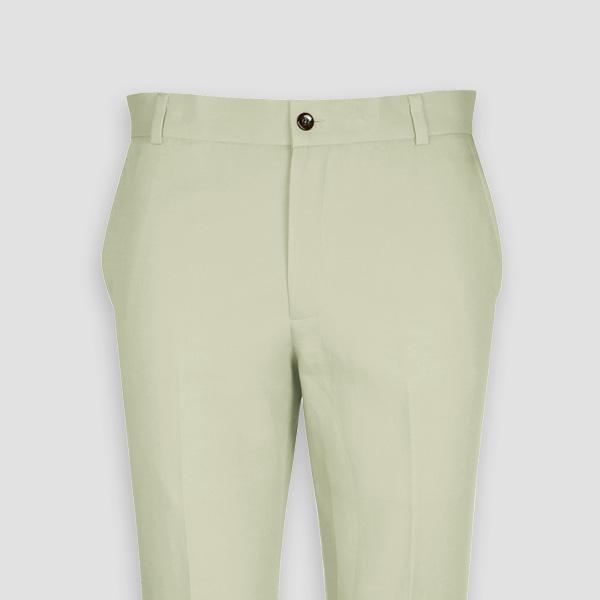 Sage Green Cotton Pants-mbview-3