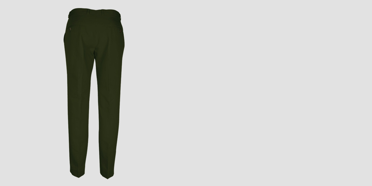Olive Green Cotton Pants- view-2