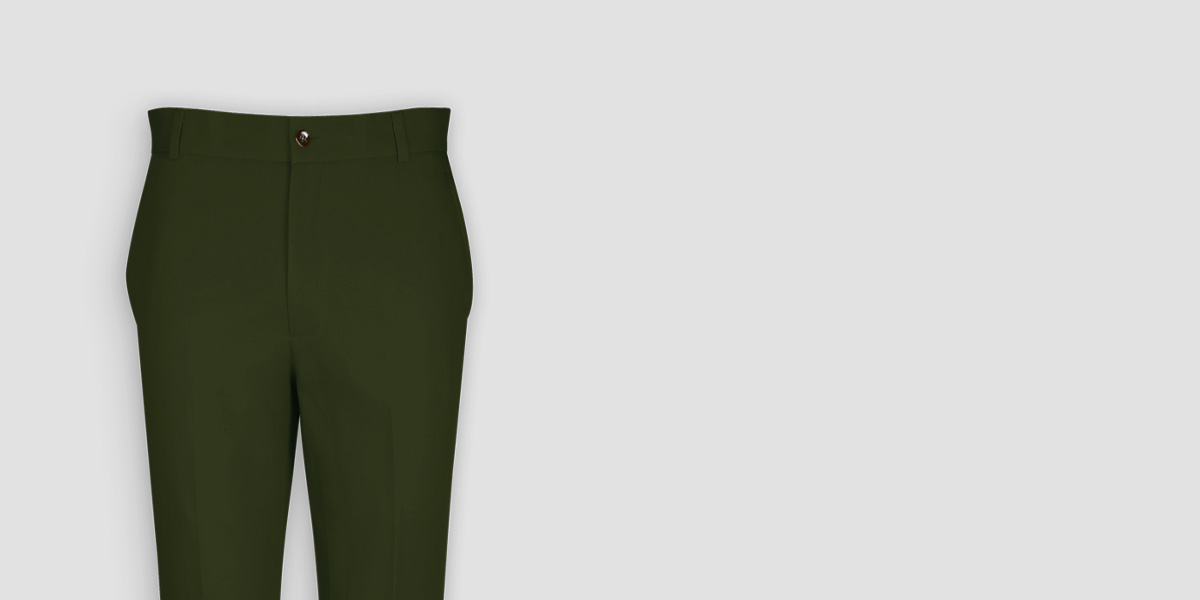 Olive Green Cotton Pants- view-3