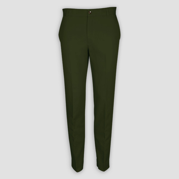 Olive Green Cotton Pants-mbview-1