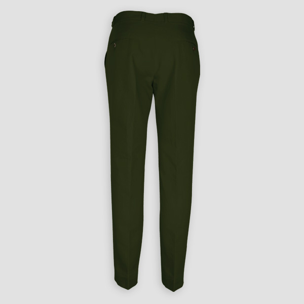 Olive Green Cotton Pants-mbview-2