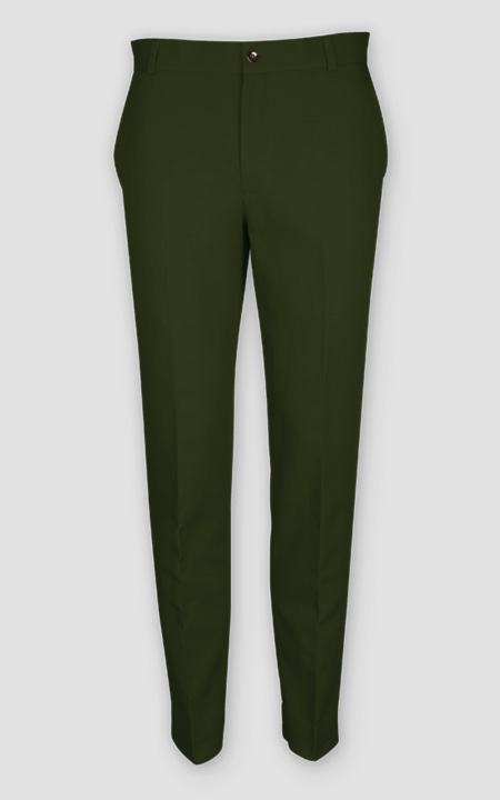 Olive Green Cotton Pants