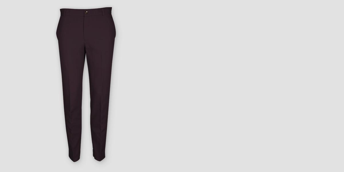 Burgundy Cotton Pants- view-1