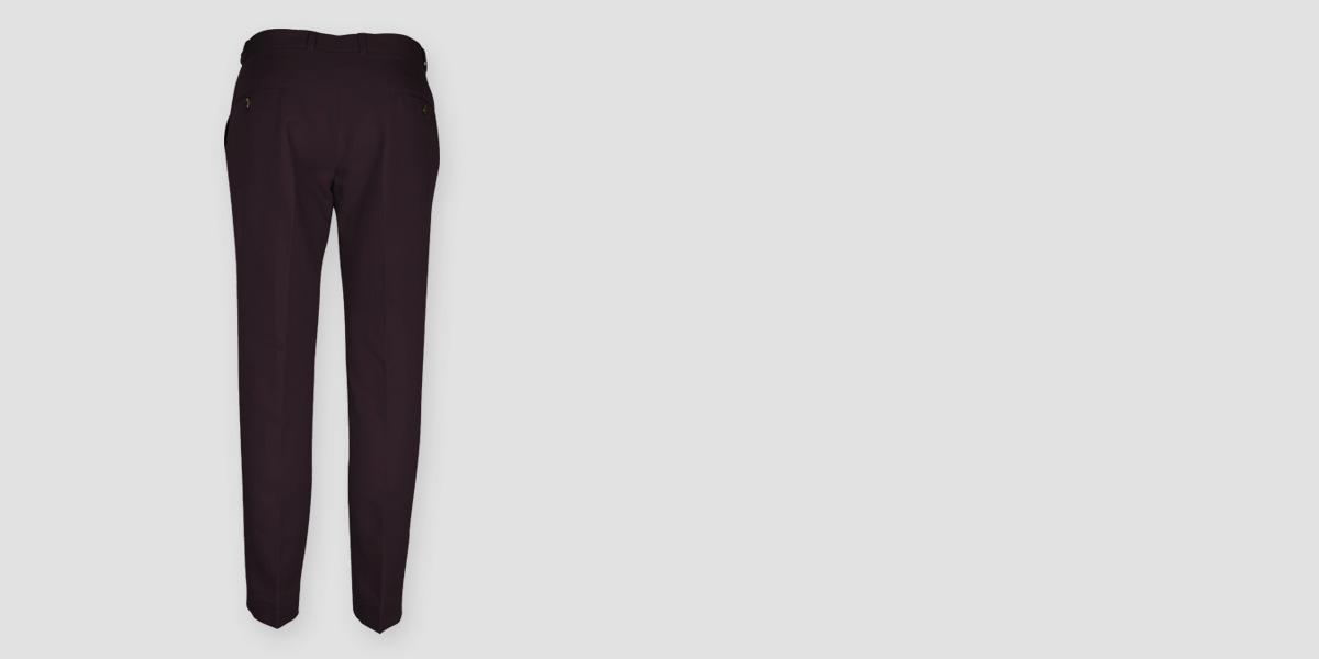 Burgundy Cotton Pants- view-2