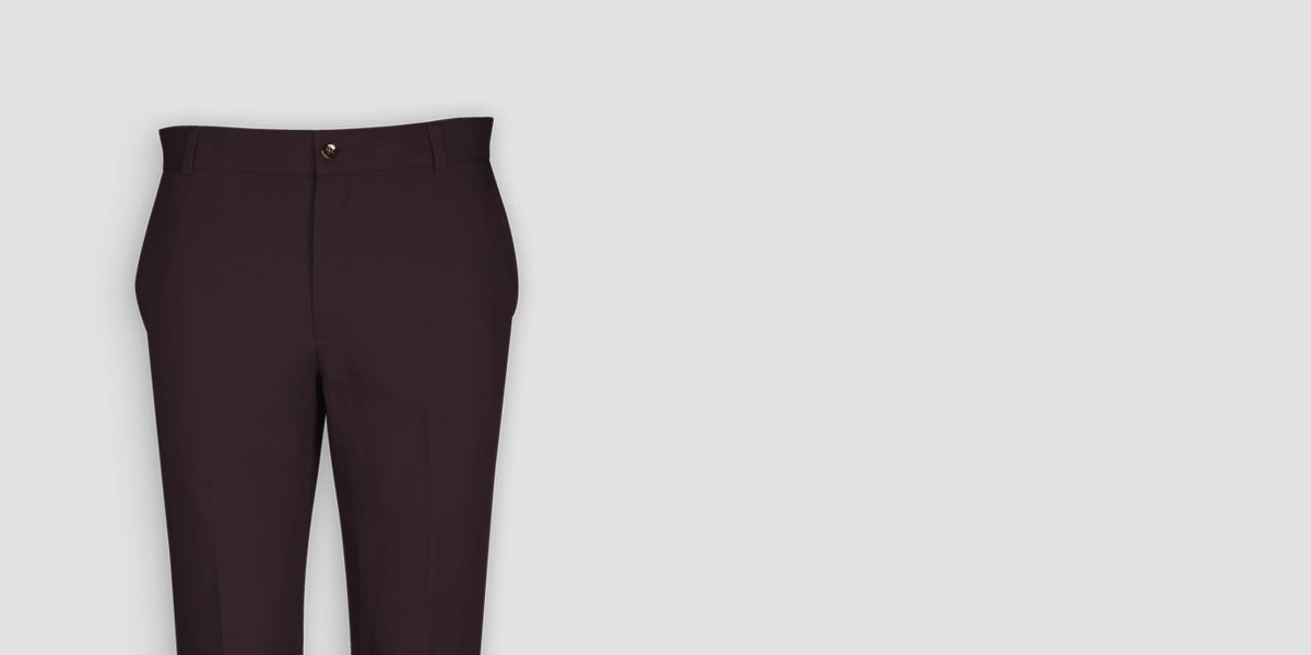 Burgundy Cotton Pants- view-3