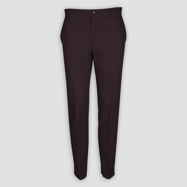 Burgundy Cotton Pants-mbview-1