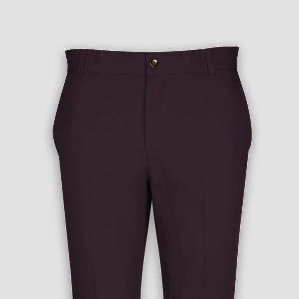 Burgundy Cotton Pants-mbview-3