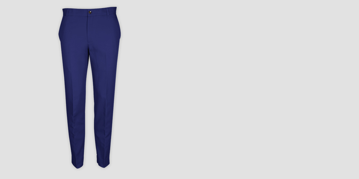 Royal Blue Cotton Pants- view-1