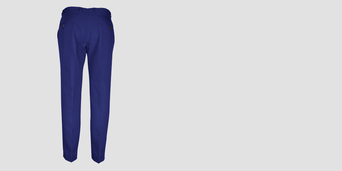 Royal Blue Cotton Pants- view-2