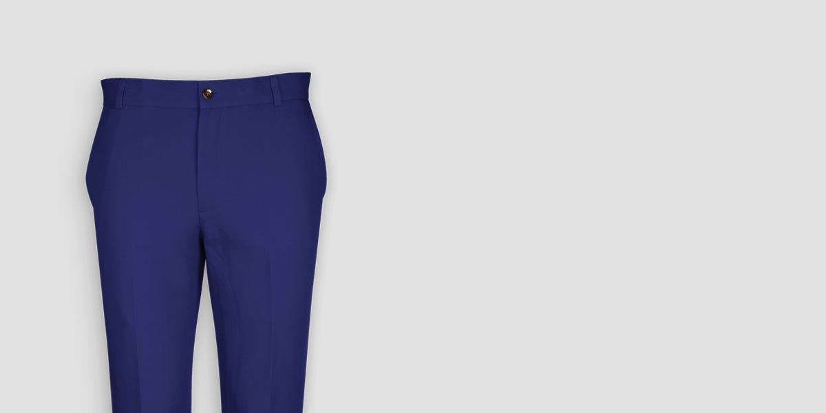 Royal Blue Cotton Pants- view-3