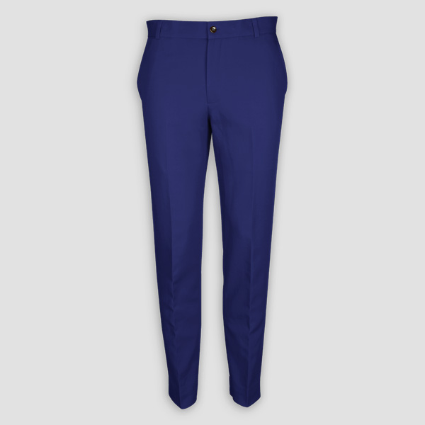 Royal Blue Cotton Pants-mbview-1