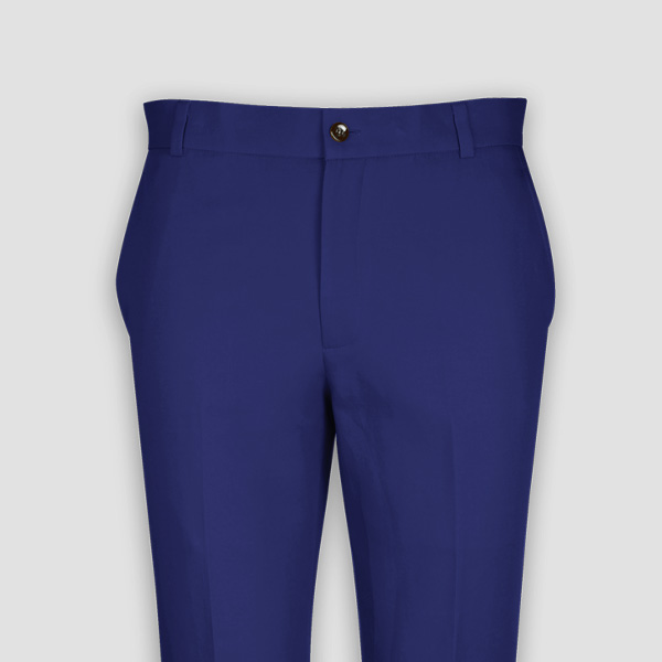Royal Blue Cotton Pants-mbview-3