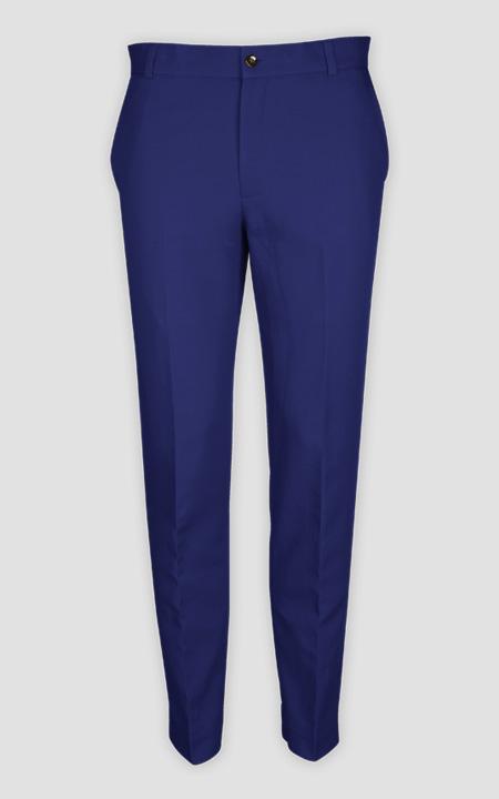 Royal Blue Cotton Pants