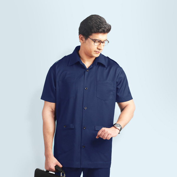 Navy Blue Safari Suit-mbview-2
