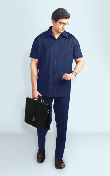 Navy Blue Safari Suit