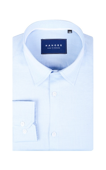 Blue Pencil Stripes Imperial Shirt