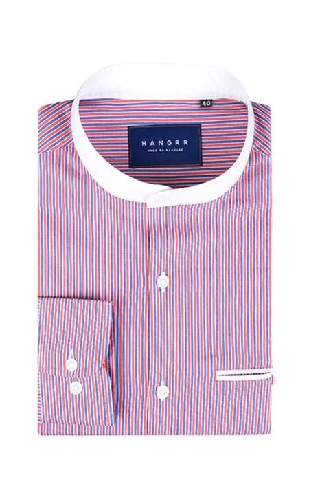 Soktas Blue & Red Striped Shirt
