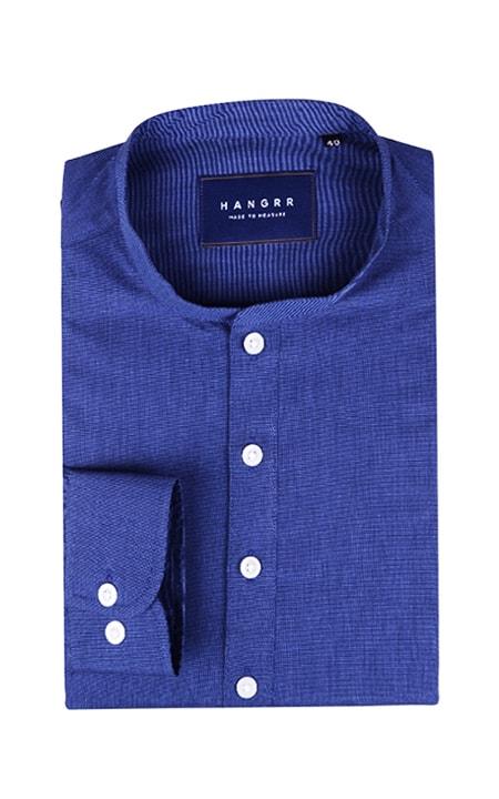 Royal Blue Fine Weave Henley Shirt