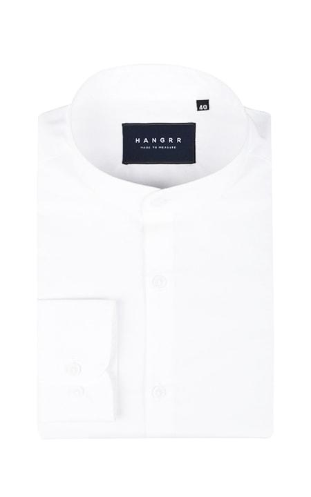 Classic White Mandarin Shirt