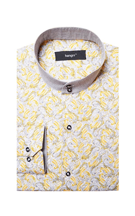 Turkish Yellow Paisley Shirt