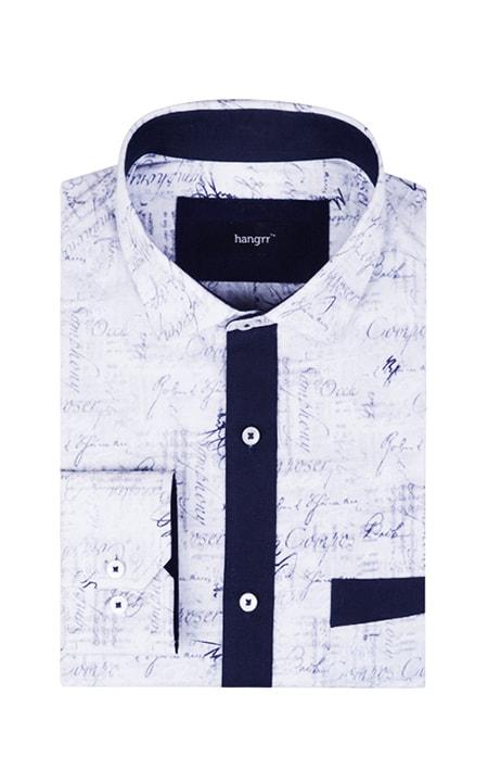 NYC Blue Print Shirt