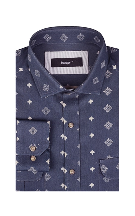 Indigo Blue Washed Shirt