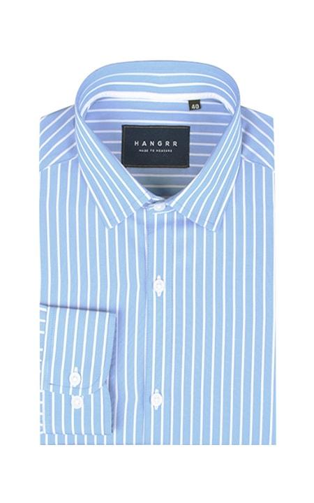 Blue Broadstripes Luxurious Shirt