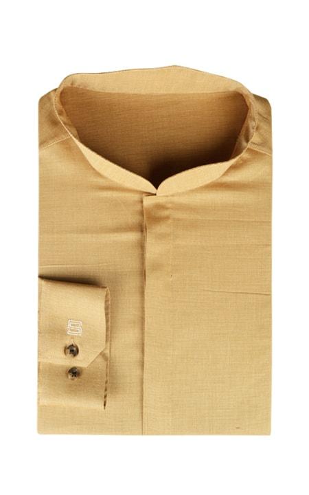 Oxford Brown Henley Shirt